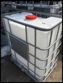 全新IBC集装桶 500L滚塑运输桶 半吨PE化工桶 0.5吨带铁架液体叉车桶