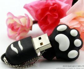 猫爪造型USB随身碟,有创意礼品优盘制造商