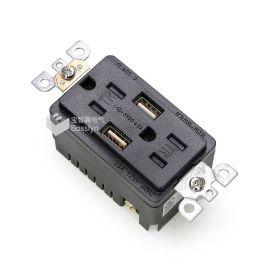 美标USB插座口4.0A快速充电墙面插座