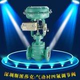 襯氟法蘭化工部耐腐蝕耐酸鹼氣動調節閥ZMJBP DN15 20 25 50 65