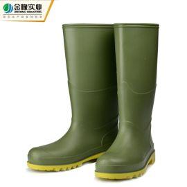 外贸PVC雨鞋高筒安全劳保鞋 耐油耐酸碱英伦水鞋 防滑耐磨雨靴男