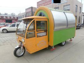 定制电动三轮快餐车移动早餐车流动售货车美食车