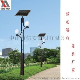 专业生产户外太阳能庭院灯 欧式小区路灯 LED太阳能花园景观灯