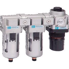 长拓UAC20-50 空气过滤三点组合(空气过滤器+调压阀+油雾器)系列