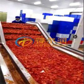 DRC100龙虾清洗生产线 大型超声波龙虾去污机器