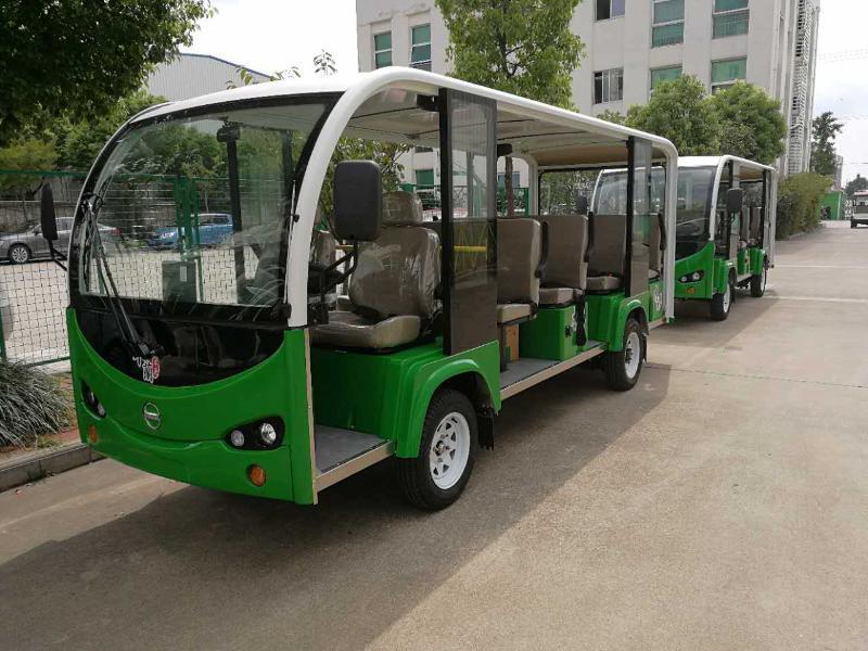 利凯士得十四座电动观光车,景区游览观光车