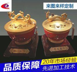 东莞沃昌 锌合金工艺品加工 铸造聚宝盆摆饰件