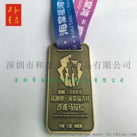 马拉松奖牌制作 深圳做锌合金奖牌的工厂