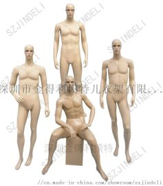 化妆男服装模特,橱窗陈列服装模特