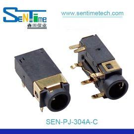 3.5耳机座PJ304A插板式镀金连接器