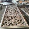 定制鋁窗花 木紋鋁合金窗花 鏤空雕刻藝術鋁窗花