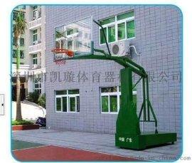 厂家供应深圳地埋圆管篮球架 休闲独臂固定式篮球架