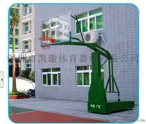 廠家供應深圳地埋圓管籃球架 休閒獨臂固定式籃球架
