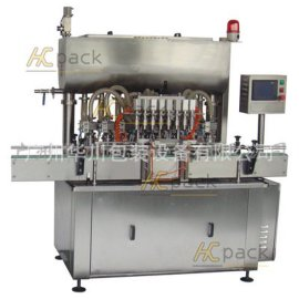 广州华川HCZH-8全自动芝麻酱直线灌装机 八头灌装机