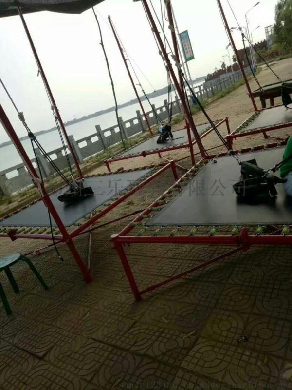 单人弹力绳儿童蹦极新款儿童蹦极设备跳床
