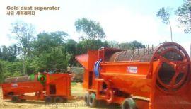 内蒙旱地移动淘金车 旱选沙金提取机可出口