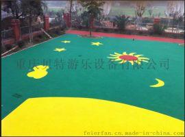 重庆南岸区安全透气橡胶地垫 彩色现浇安全EPDM地垫 户外游乐场橡胶地垫批发