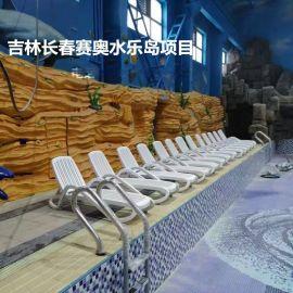 广州批发户外沙滩躺椅豪华休闲户外泳池躺椅