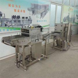 汴州自动化椒盐排条裹糠机 N排条裹屑机 上屑油炸线
