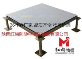 西安全钢无边防静电地板-陕西红梅防静电地板