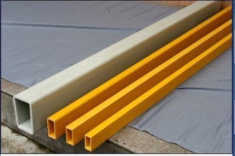 矩形管玻璃钢拉挤型材护栏围栏材料厂家直销