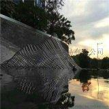 定制大型不锈钢假山雕塑户外园林景观装饰生产厂家