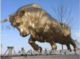 热销黄铜拓荒牛雕塑耕牛摆件3米