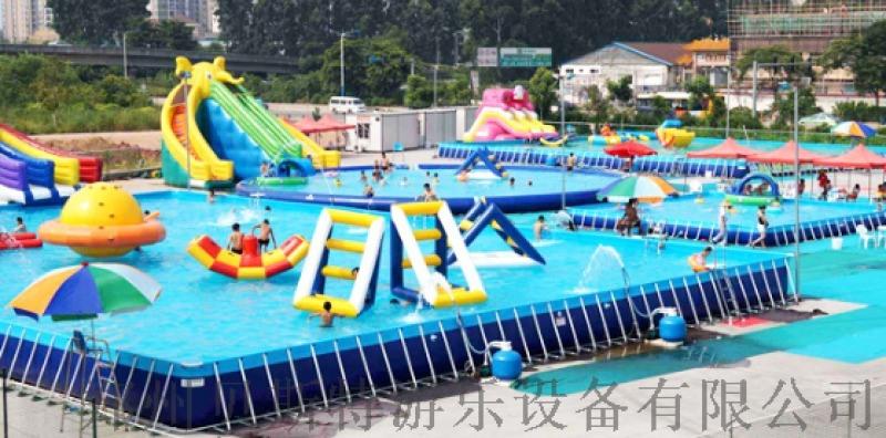 河北邯鄲大象戲水充氣水滑梯加充氣水池