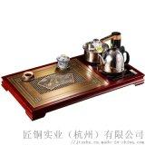 清明上河图茶盘套装纯铜家具新中式茶桌专业铜装修定制