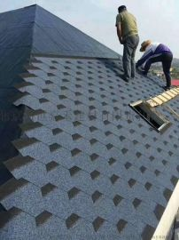 厂家屋面防水油毡瓦沥青瓦水墨灰马赛克玻纤瓦木屋瓦