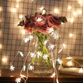 LED雪花灯串圣诞节日婚庆新年圣诞树装饰