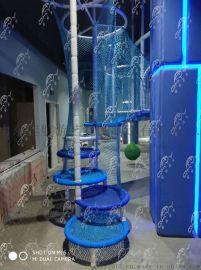 新型游乐设备  起航游艺  彩虹绳网 旋转楼梯