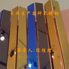 201黄钛金拉丝不锈钢管50*50*1.5