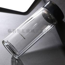 邯郸加汇出口玻璃杯生产厂家印字广告杯礼品杯**商务水晶玻璃杯时尚玻璃水瓶印LOGO定做批发口杯