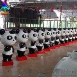 熊貓造型卡通動物雕塑 室內外活動展覽樹脂擺件