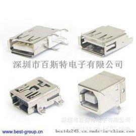 供应A公180度插座 USB接口插座