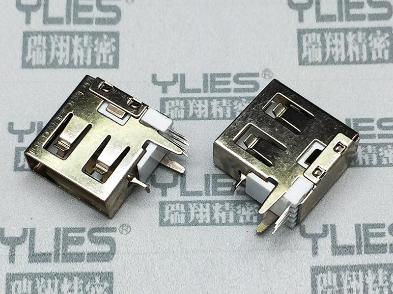503-USB連接器 母座側插短體無卷邊