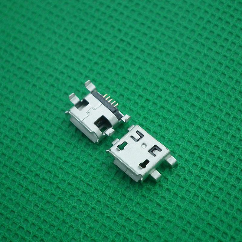 现货MICRO USB母座5P镀金0.8沉板用于三星 安卓手机接口插头插座