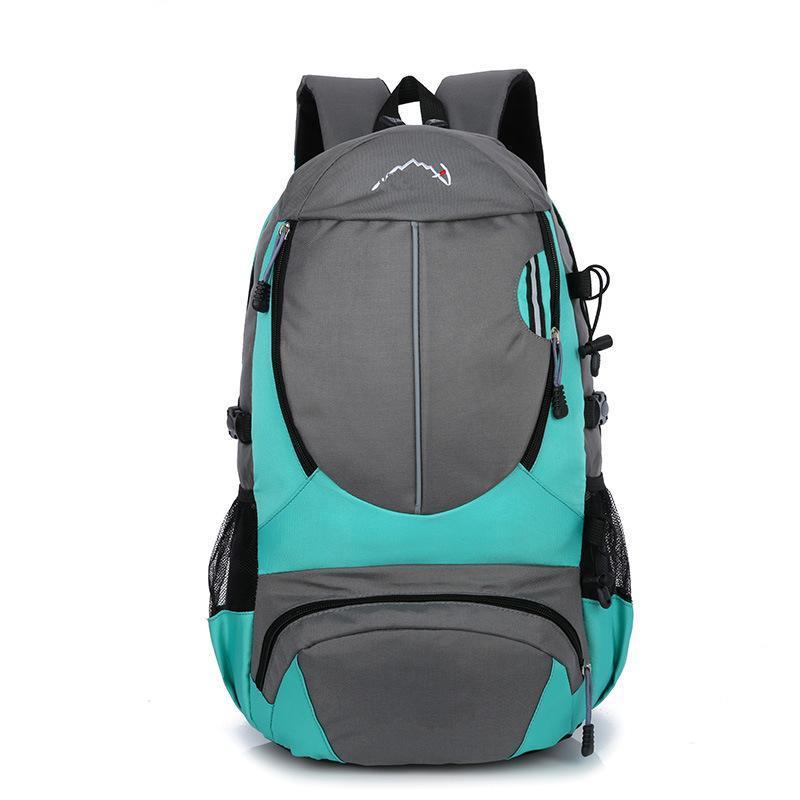 廠家直銷定製休閒雙肩包純色旅遊登山包大容量戶外揹包批發新款