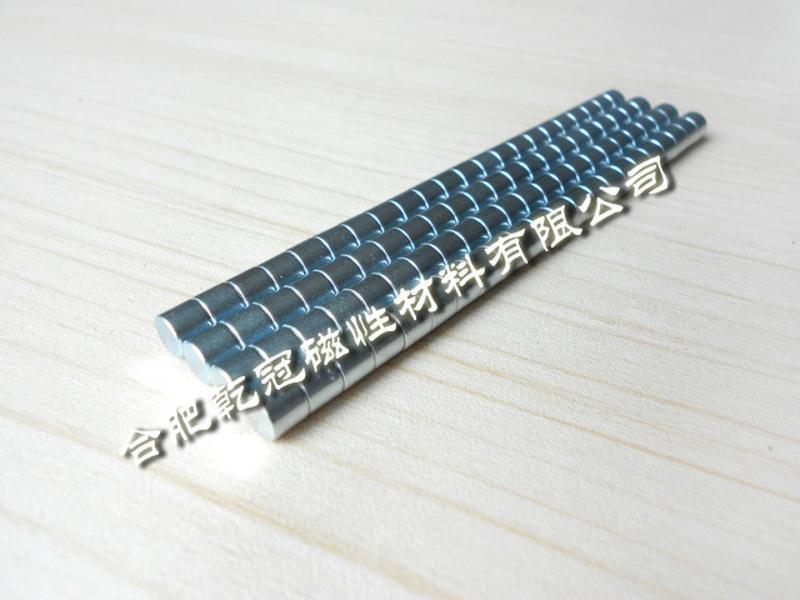 釹鐵硼磁鐵  圓形磁石  強力磁鐵 D8*5強磁