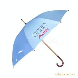 广告遮阳伞 广告雨伞 汽车4S店用礼品广告伞 木中棒伞