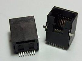 贴片式RJ45 8P8C SMT SMD网络插座连接器水晶头母座接口