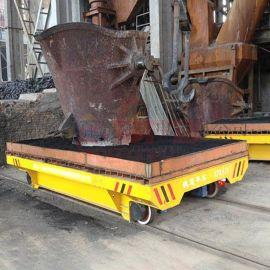 喷砂房130吨蓄电池电动平车 钢丝绳平板车