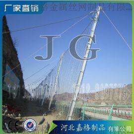 滑坡钢丝绳防护网、滑坡落石防护网