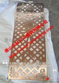 香港豪华香槟金不锈钢激光雕刻门花 门花配件加工定制