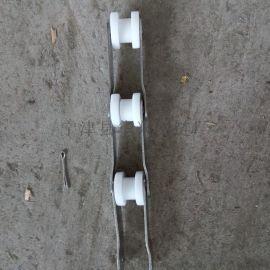 供应白色尼龙大滚珠链条 双节距输送链条