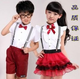 中小学生校服演出服合唱服背带裤