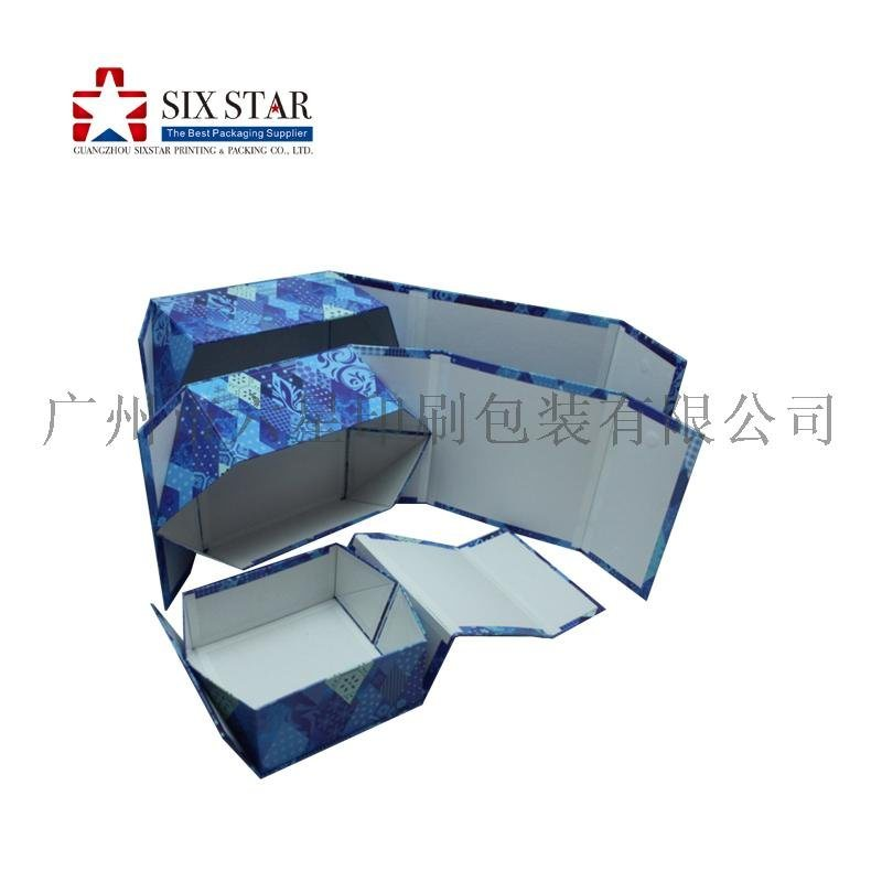 专业生产折叠精装盒书型盒印刷带磁铁包装设计定制