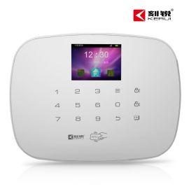 刻锐KR-G19无线GSM防盗报 器店铺家用红外线触控智能安防系统
