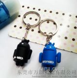 厂家定做pvc环保钥匙挂件钥匙扣,安卓公仔钥匙扣